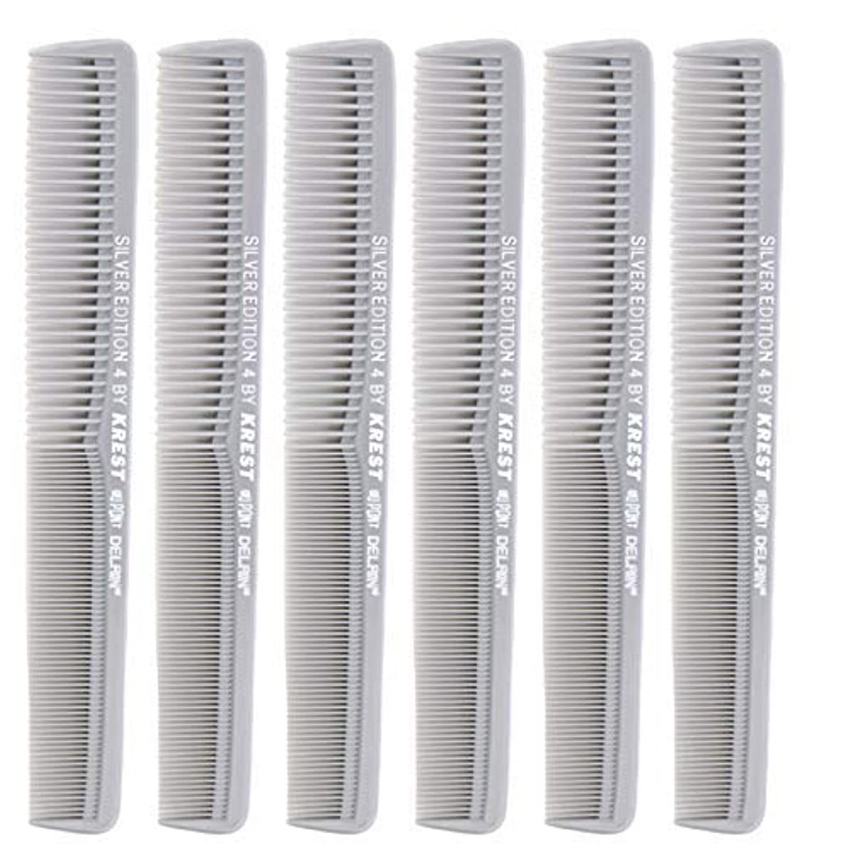 崩壊中央ボイラー7 In. Silver Edition Heat Resistant All Purpose Hair Comb Model #4 Krest Comb, [並行輸入品]