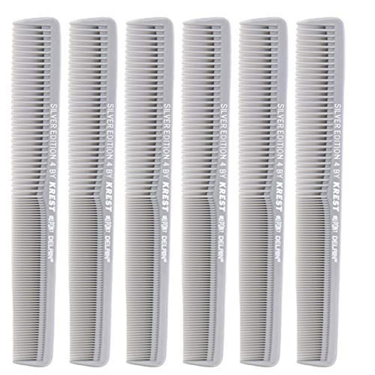 結婚不調和支払い7 In. Silver Edition Heat Resistant All Purpose Hair Comb Model #4 Krest Comb, [並行輸入品]