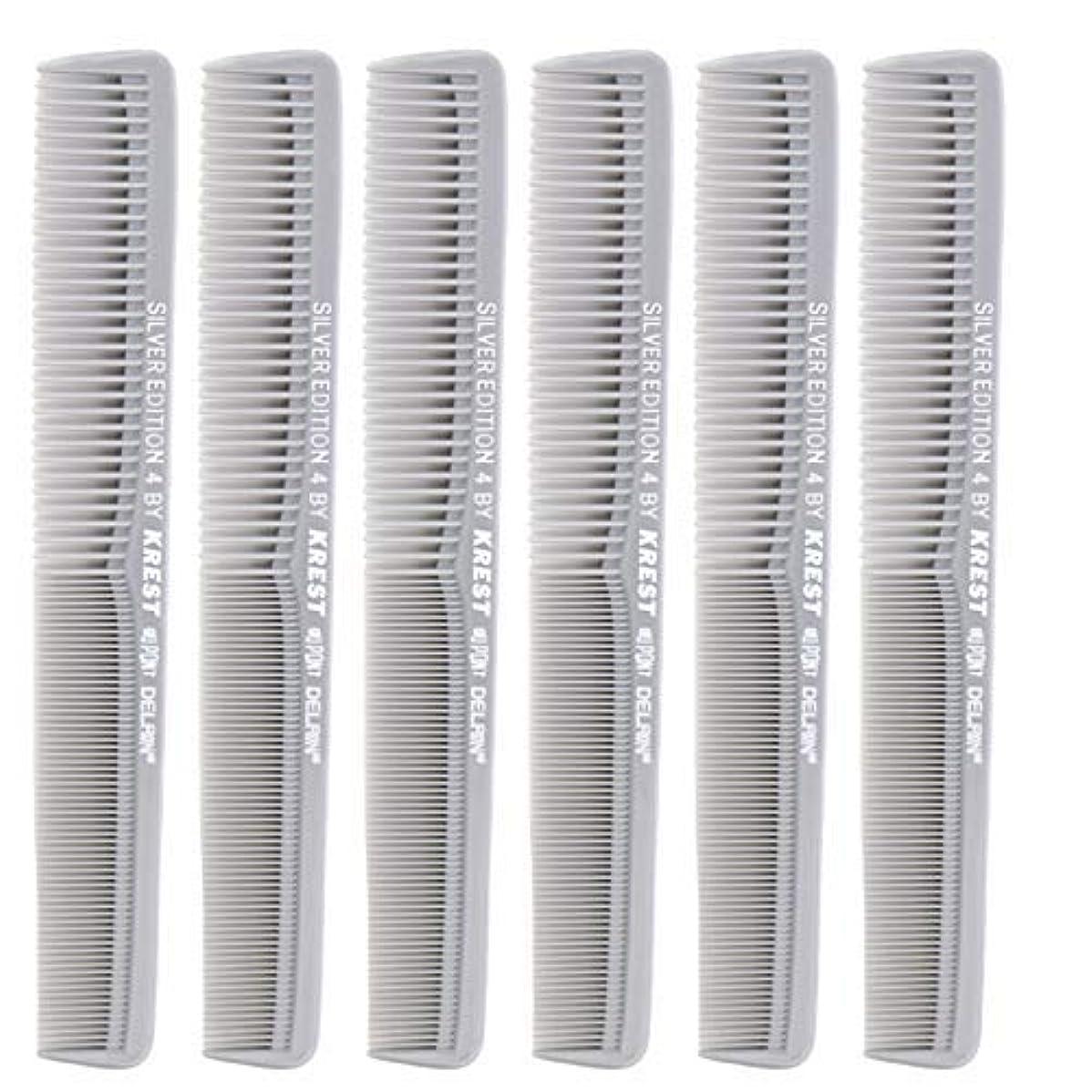 超音速アラバマ洪水7 In. Silver Edition Heat Resistant All Purpose Hair Comb Model #4 Krest Comb, [並行輸入品]
