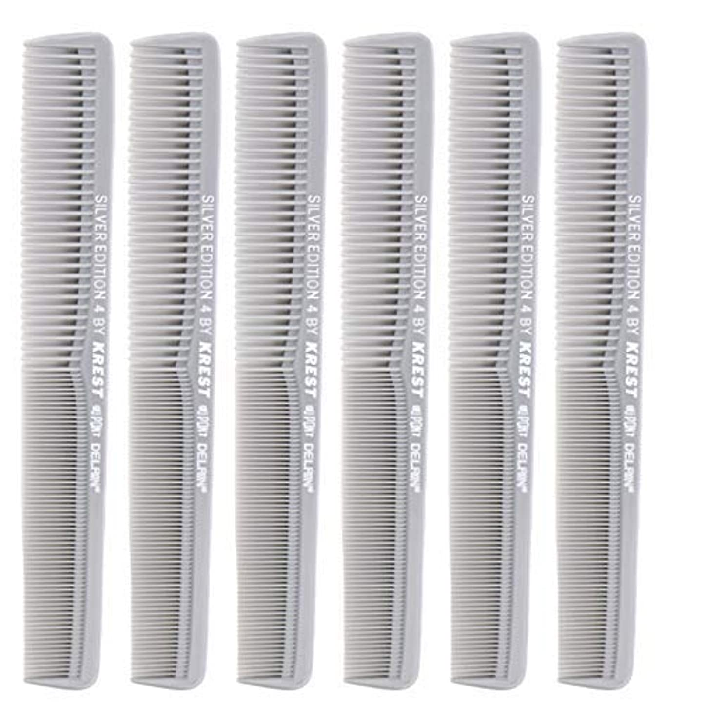 7 In. Silver Edition Heat Resistant All Purpose Hair Comb Model #4 Krest Comb, [並行輸入品]