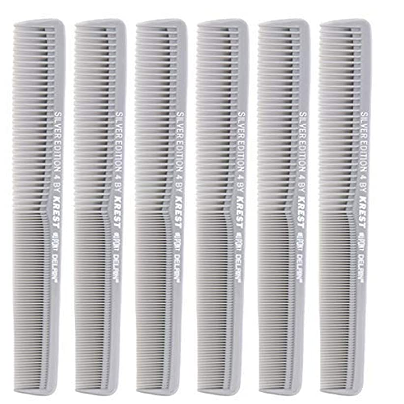 フォローしないでください制約7 In. Silver Edition Heat Resistant All Purpose Hair Comb Model #4 Krest Comb, [並行輸入品]