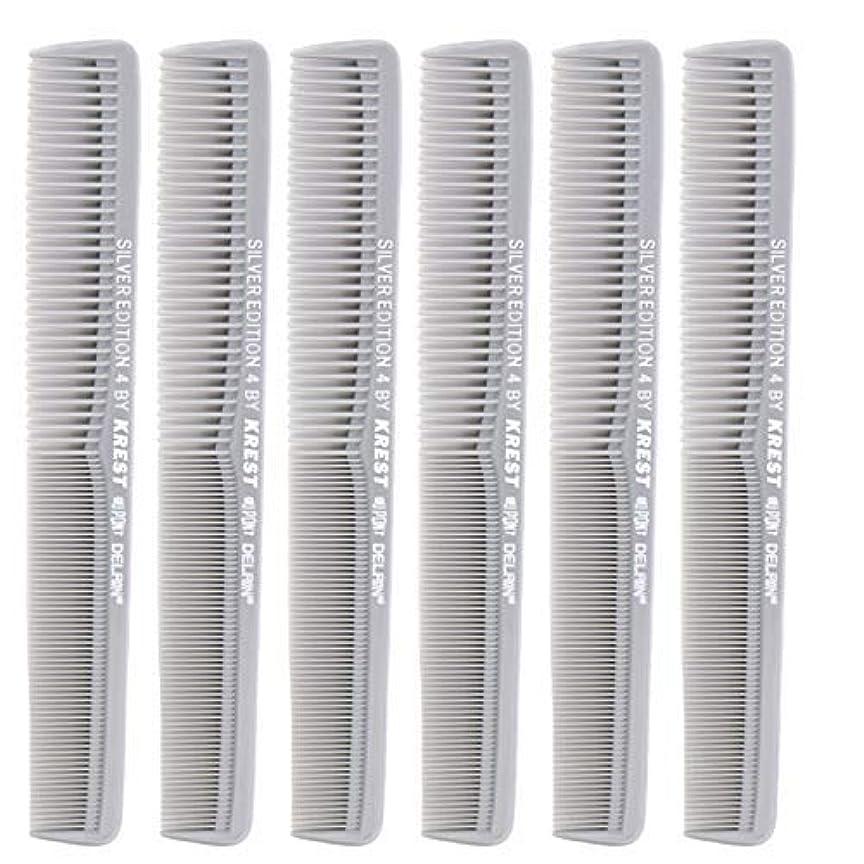 ヘッジ女王コットン7 In. Silver Edition Heat Resistant All Purpose Hair Comb Model #4 Krest Comb, [並行輸入品]