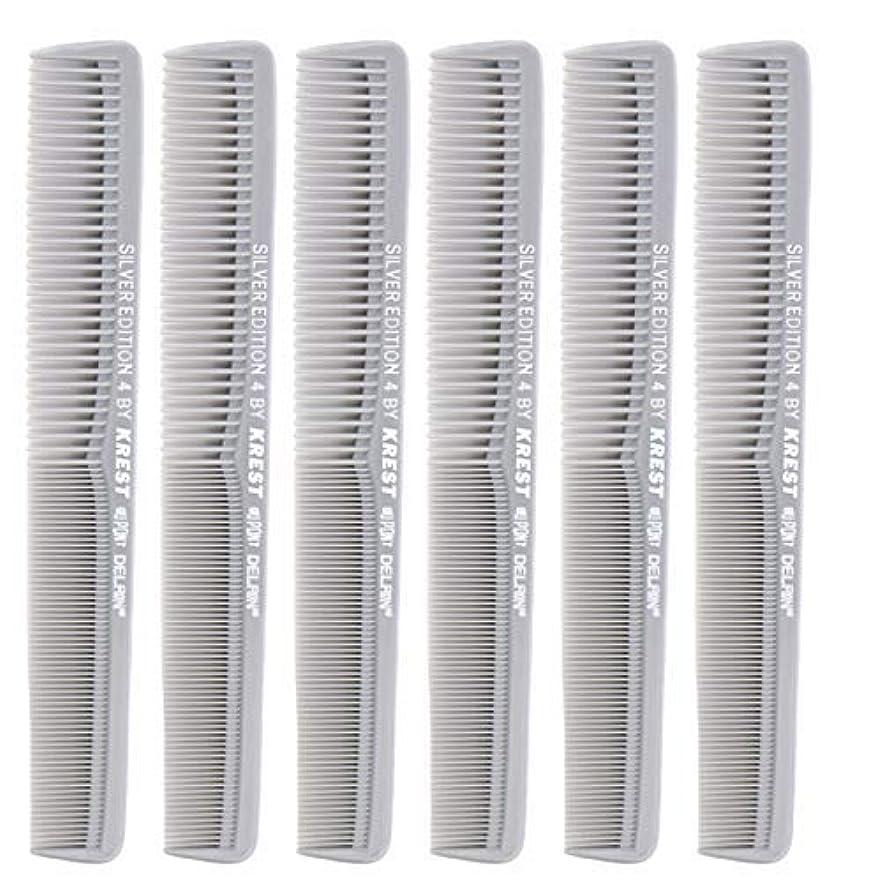 保険をかけるバンカーアウトドア7 In. Silver Edition Heat Resistant All Purpose Hair Comb Model #4 Krest Comb, [並行輸入品]