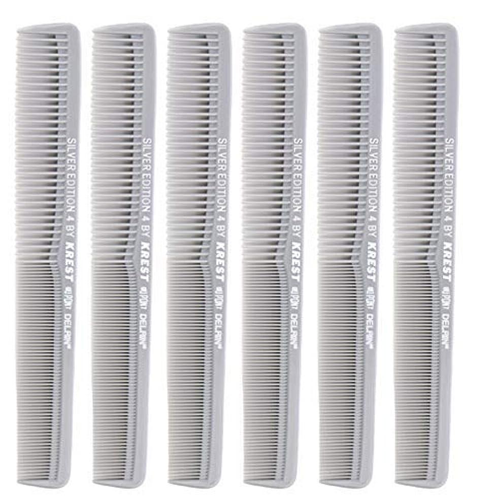 ズボン十作曲する7 In. Silver Edition Heat Resistant All Purpose Hair Comb Model #4 Krest Comb, [並行輸入品]