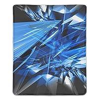 マウスパッド 抽象的な粉々に砕けたガラス レーザー&光学マウス対応 防水/洗える/滑り止め サイズ:18 x 22 x 0.3 cm
