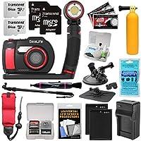 SeaLife DC2000 HD 水中デジタルカメラ Sea Dragon 3000オートライトセット + (2) 64GBカード + バッテリー & 充電器 + 延長ポール + 吸盤マウント + ブイキット