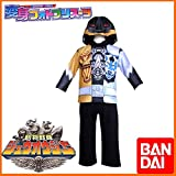 BANDAI バンダイ 動物戦隊ジュウオウジャー なりきり変身長袖パジャマ120cmBK