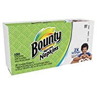 Bounty Quilted Napkins, 1-Ply, 12.1In X 12In, 100/PK, White by Bounty