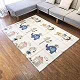 Infant Shining Baby Mat Play Mat Folding Puzzle Playmat Game Pad 200 * 150 * 1cm XPE Portable Double Sides Foam Crawling Mat for Infants piannuo