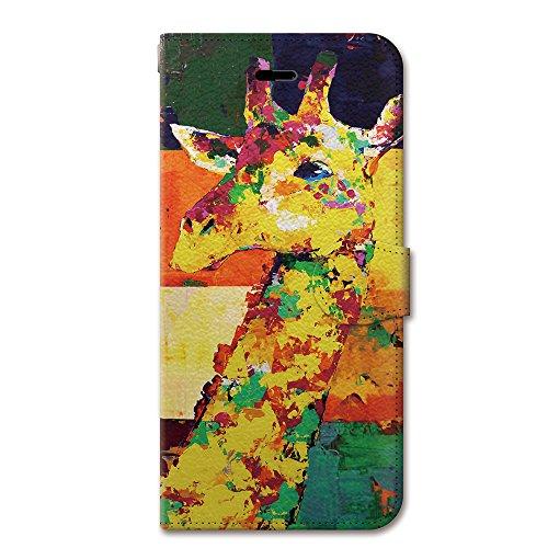 NiJiSuKe (ニジスケ) iPhone6s iPhone6 4.7 インチ 手帳型 ケース カバー キリン 革 / カード収納 / スタンド / スマホケース / 横開き