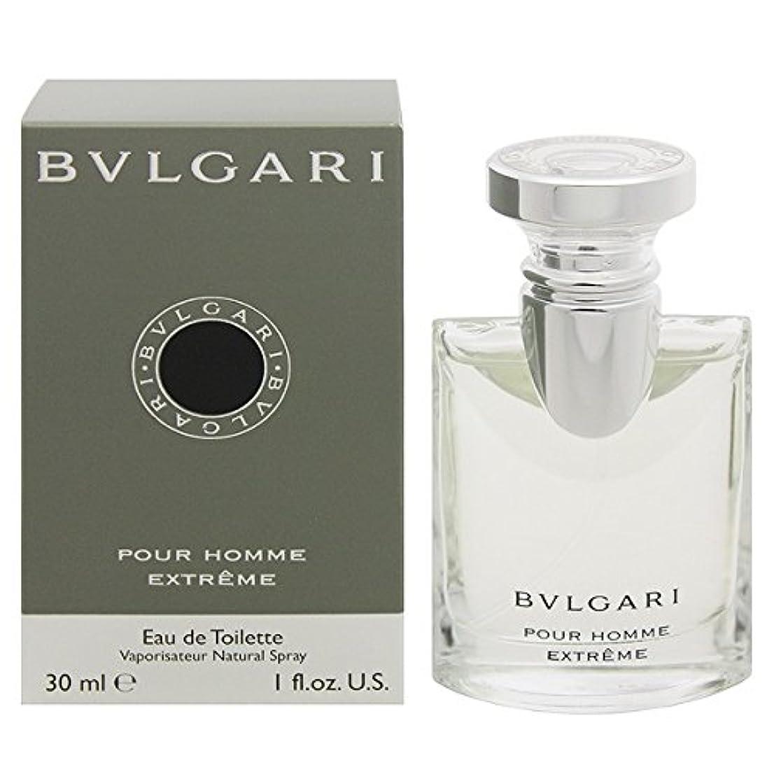 干渉順応性のあるめんどりブルガリ BVLGARI プールオム エクストレーム オードトワレ スプレー EDT 30mL 【香水】 [並行輸入品]
