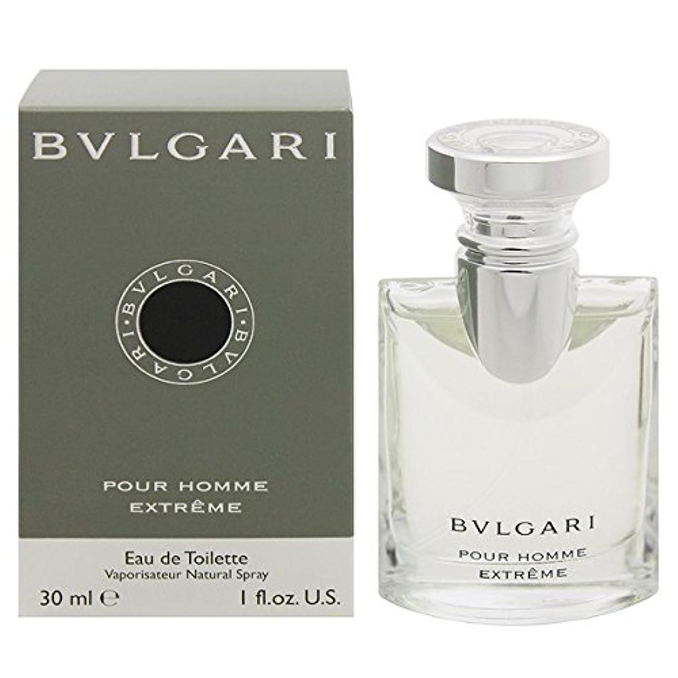 ブルガリ BVLGARI プールオム エクストレーム オードトワレ スプレー EDT 30mL 【香水】 [並行輸入品]