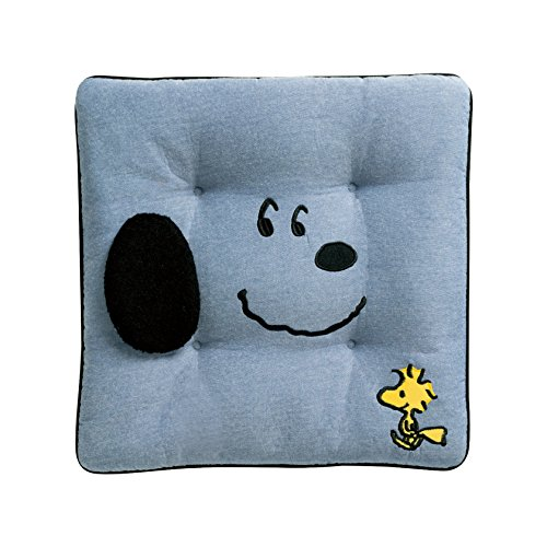 Bonn Foam Cushion Snoopy Face Cotton Input Angle Blue