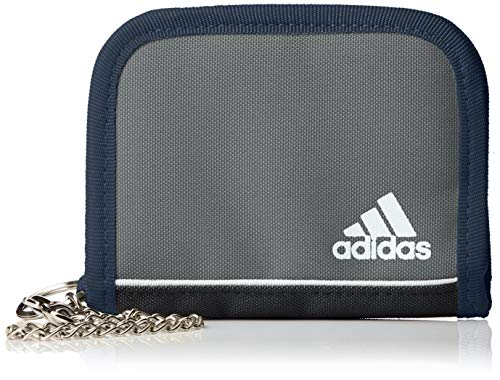 adidas 財布 チェーン付 キッズ グレーファイブ [5139]