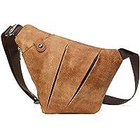 [ ReZuell. leather : croissant ] 本革 ボディバッグ ショルダーバッグ 斜め掛け メンズバッグ