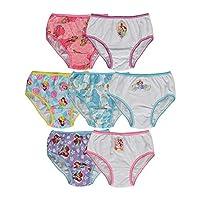 Disney Little Girls' Princess Seven-Pack Panties