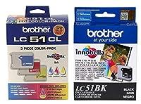 Brother lc51プリントカートリッジ–ブラック、イエロー、シアン、マゼンタ( 4-パック)