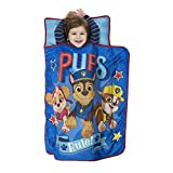 Paw Patrol We're A Team Toddler Nap Mat, Includes Pillow & Fleece Blanket – Great for Boys and Girls Napping at Daycare, Preschool, Or Kindergarten, Fits Sleeping Toddlers and Young Children