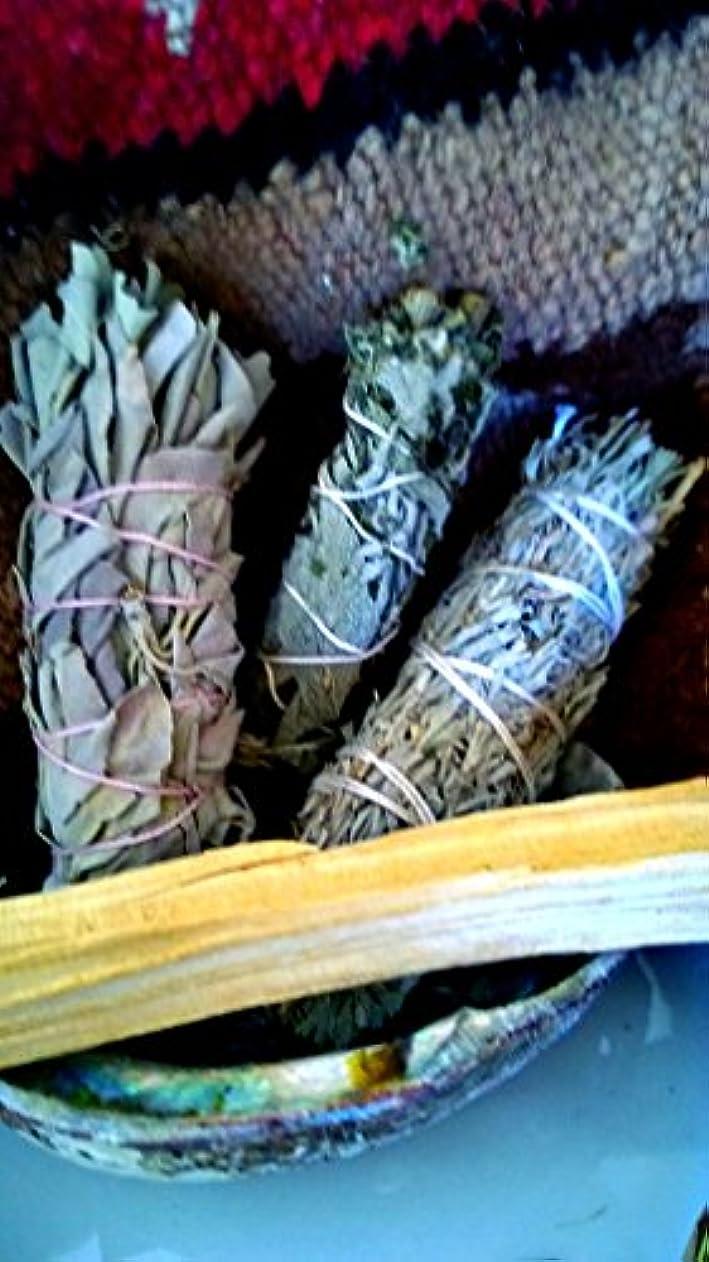 歩き回るセブン側面Exhale Variety smudge stick pack