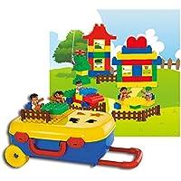 新しい楽しい子供の教育玩具ホームLife DIY LuggageシーンブロックLargeパーティクルの建物ブロックGirl City