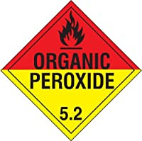 Accuform Signs MPL504CT1 PF-Cardstock Hazard Class 5/Division 2 DOT Placard Legend ORGANIC PEROXIDE 5.2 with Graphic 10-3/4 Width x 10-3/4 Length Black on Red and Yellow [並行輸入品]
