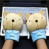 「全3タイプ」USBあったか手袋 熊(955-3)