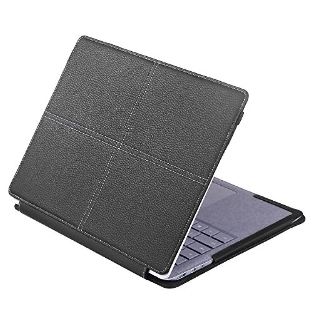 異常順応性のあるクールNevigat Surface Laptopケース、 Surface laptop 13.5 スタンドカバー 高品質PUレザーケース マグネット式 全保護カバー (Black)