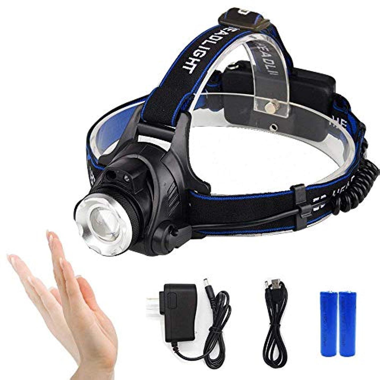 知り合いジェームズダイソンマッシュZiyue LEDヘッドライト CREE T6 ズーム機能付き 4モード 1200ルーメン 90度調整 18650電池2本付き 3種類の充電ケーブル付き