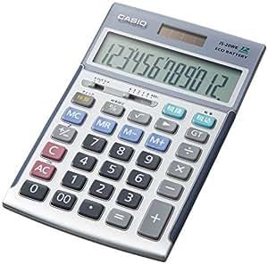カシオ 本格実務電卓 検算・税計算 ジャストタイプ 12桁 JS-20WK