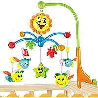 ベッドメリー オルゴール・モビール おやすみメリー音楽回転 幼児・ベビー知育おもちゃ 幼児用寝具メリー (ミツバチ)