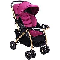 乳母車 軽い乗り物は折り畳むことができます折り畳まれた赤ちゃんの乗り物子供赤ちゃんの赤ちゃんのトロリー 使いやすい (色 : Purple)