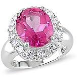 (ソフィア B)Sofia B 6 1/5 CT TW Pink and White Topaz Fashion Ring Silver ピンクとホワイトトパーズファッションリングシルバー (並行輸入品)jaysyang