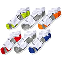 Fruit of the Loom boys FRB10023T6UC001 Everyday Active Low Cut Tab Socks-6 Pair Pack Casual Sock - multi - Boys Shoe Size: