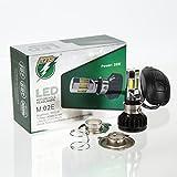 G-Parts バイクLEDヘッドライト35W H4 Hi/Lo 直流交流兼用 H6 PH7 PH8対応 冷却ファン内臓 取付簡単