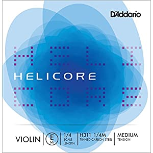 D'Addario ダダリオ バイオリン用 バラ弦 Helicore E線 H311 1/4M Medium Tension 【国内正規品】