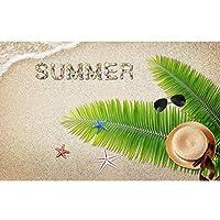 Ljjlm カスタムサイズ3D写真壁紙壁画ココナッツビーチ夏の写真画像壁画ベッドルームリビングルームソファテレビ背景壁紙-360X240CM