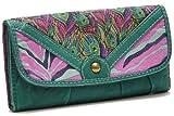 女性用 三つ折り柔らか長財布 米国人気ファッションブランド mossimo 4柄選択 「217-0001」 (04 ブラック)
