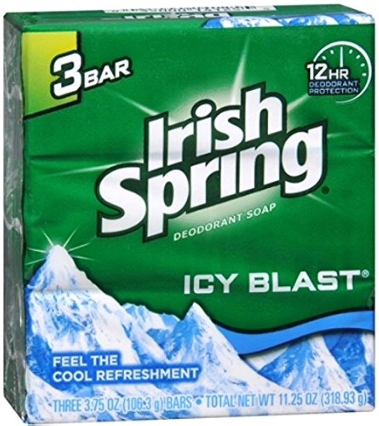 上向き抵当薬を飲むIrish Spring デオドラント石鹸、アイシーブラスト、3.75オズバー、3 Eaは(2パック) 2パック
