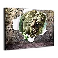 Derrick Amanda 3D-恐竜 アートパネル 壁掛け式の装飾画 壁アート インテリアアート 額縁なし ポスター 部屋飾り ウォールアート 壁飾り アートフレーム 壁絵 モダン