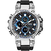 eYotto Mens Sports Watch, Military Analog Digital Men Watch 50M Waterproof Multifunction Date Alarm Stopwatch Outdoor Wrist Watches