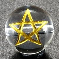 スター 水晶 オニキス 金彫り 五芒星 12mm 【彫刻 一粒売りビーズ】 天然石 パワーストーン  10P20Sep14 水晶