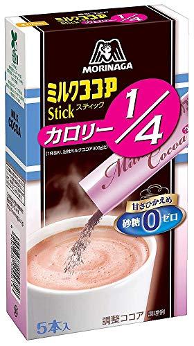 森永 ミルクココア カロリー1/4 スティック 5本入 50g