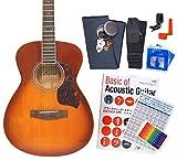 アコースティック・ギター アコギ 初心者 12点セット Legend FG-15 CST べっ甲柄ピックガード仕様 S-LVS [98765]