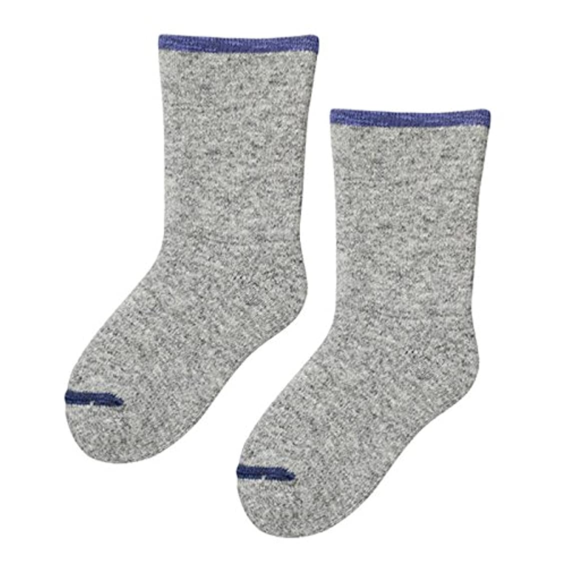 ライターピカソそれに応じて砂山靴下 Carelance(ケアランス) お風呂上りの靴下 二重編み 8590CA-05 グレー