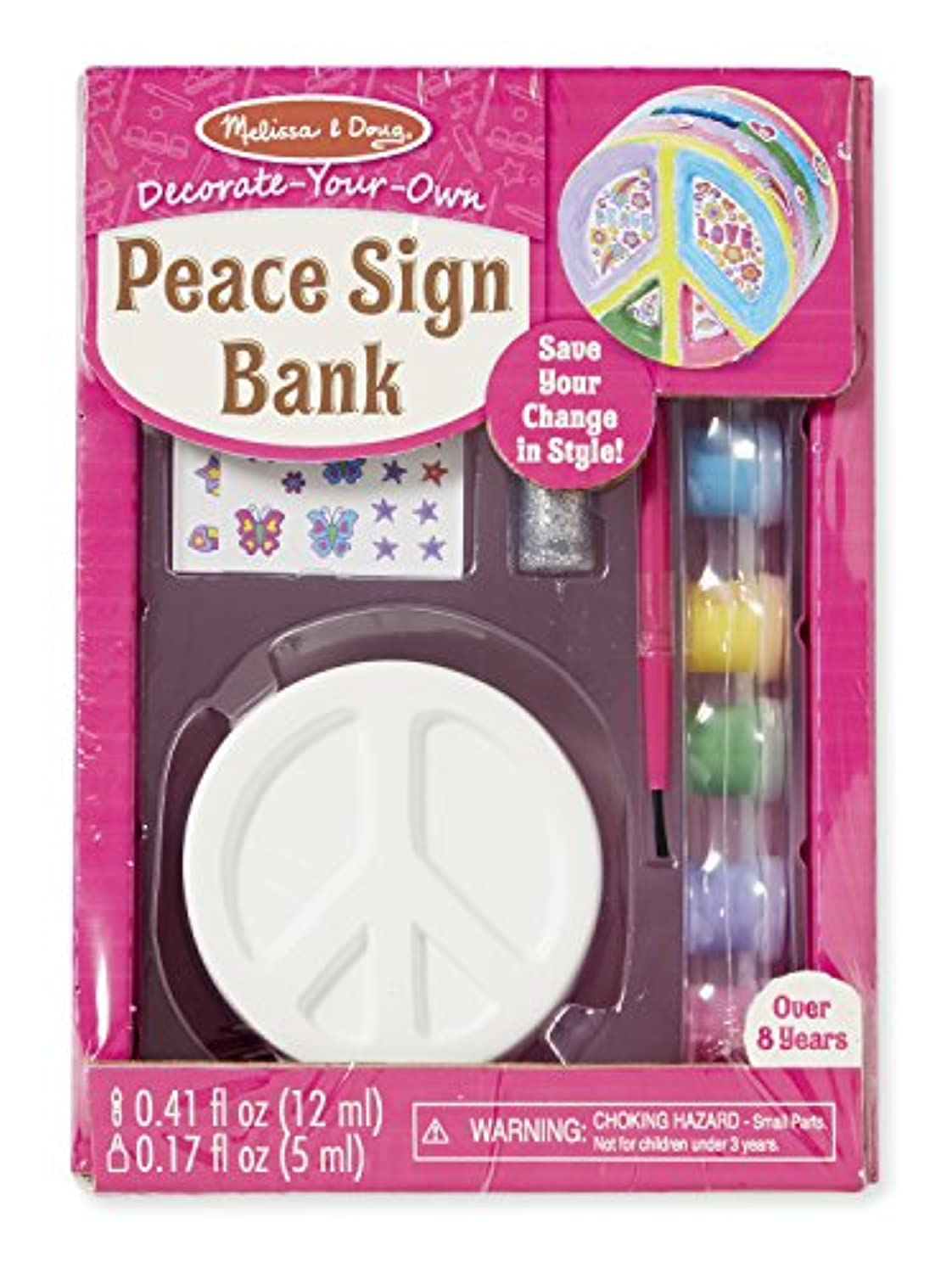 Melissa & Doug decorate-your-own Peace Sign Bankクラフトキット