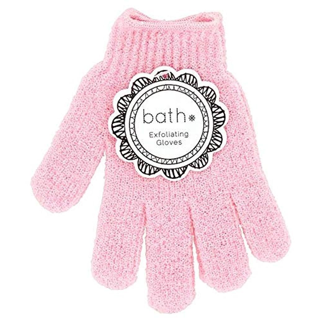 規定どこにもの中で[Bath Essentials] 手袋を剥離風呂の必需品 - Bath Essentials Exfoliating Gloves [並行輸入品]