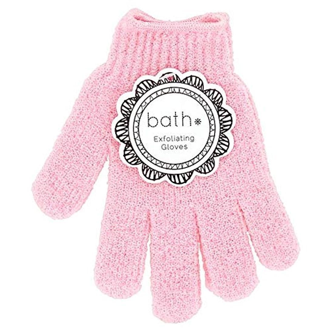 マークダウン鉱石特定の[Bath Essentials] 手袋を剥離風呂の必需品 - Bath Essentials Exfoliating Gloves [並行輸入品]