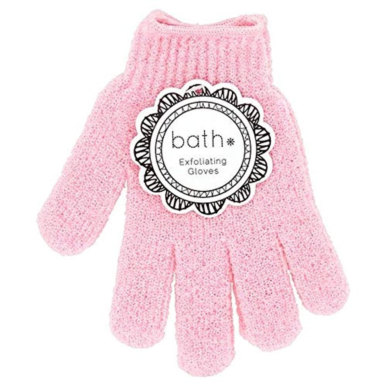 立法売る冗長[Bath Essentials] 手袋を剥離風呂の必需品 - Bath Essentials Exfoliating Gloves [並行輸入品]