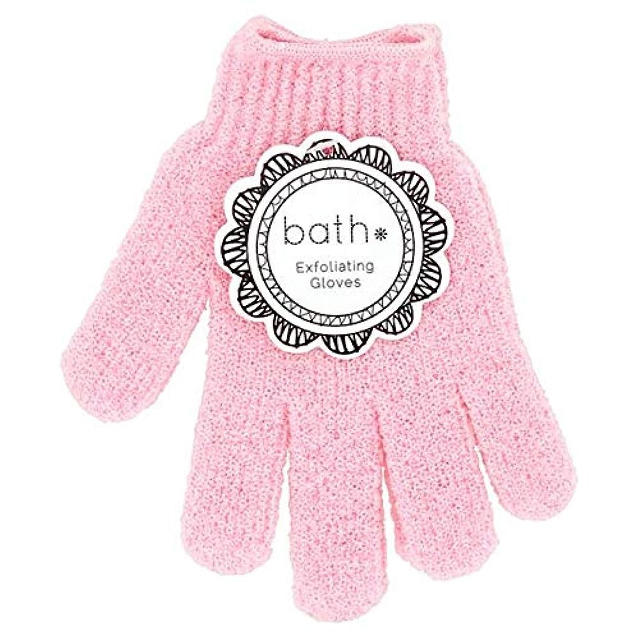 みぞれ深い拡声器[Bath Essentials] 手袋を剥離風呂の必需品 - Bath Essentials Exfoliating Gloves [並行輸入品]