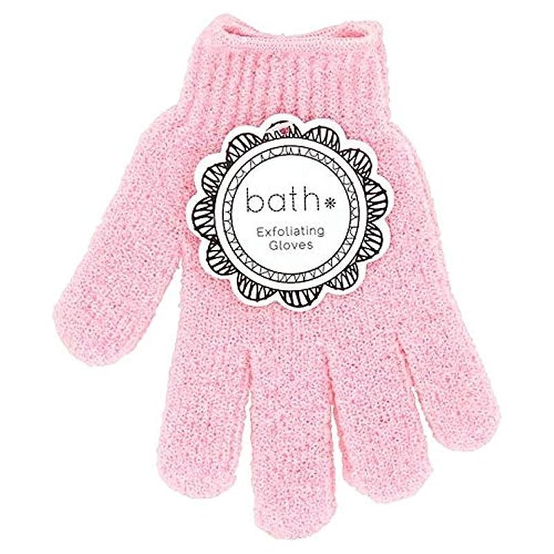 重要な役割を果たす、中心的な手段となる柔和なめる[Bath Essentials] 手袋を剥離風呂の必需品 - Bath Essentials Exfoliating Gloves [並行輸入品]